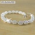 2017 Nova 925 Sterling Silver charm pulseiras para as mulheres de Jóias de luxo & boa qualidade pulseiras