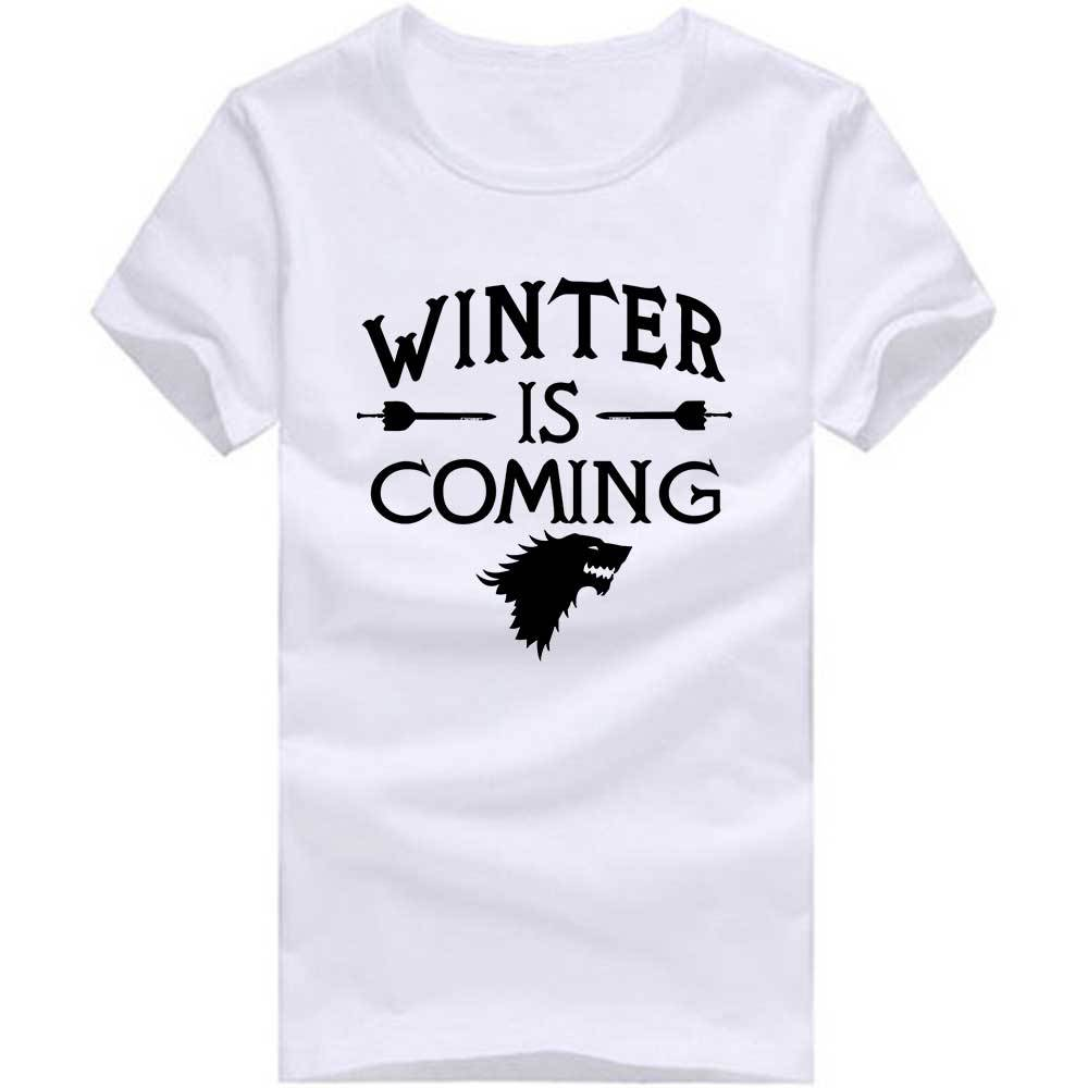 Design t shirt games - Creative Design Game Of Thrones T Shirts Men Winter Is Coming Man T Shirt Short Sleeve Mens Tee Cotton O Neck Tops Tees In T Shirts From Men S Clothing