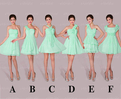 e32d949a54091 Short mint cheap mismatched junior under $50 charming bridesmaid dress-in Bridesmaid  Dresses from Weddings & Events on Aliexpress.com | Alibaba Group