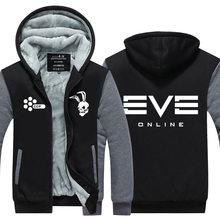 2016 Mens Hoodie winter EVE Online Thicken Fleece Guristas Pirates US EU Plus Size