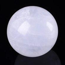 1pcs 100% Natural white crystal ball household feng shui decoration quartz stone