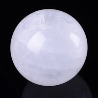1pcs 100% Natural white crystal ball household feng shui decoration quartz stone ball decoration