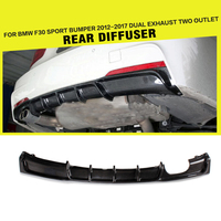 Car Styling Carbon Fiber Rear Diffuser Lip Spoiler for BMW 3 Series 325i 328i F30 M Sport Bumper 2012 2017