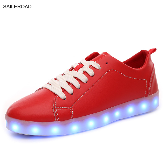 Led Luminous Shoes Men Led Shoes With Lights For Adults Men Led USB  Charging Glowing Valentine