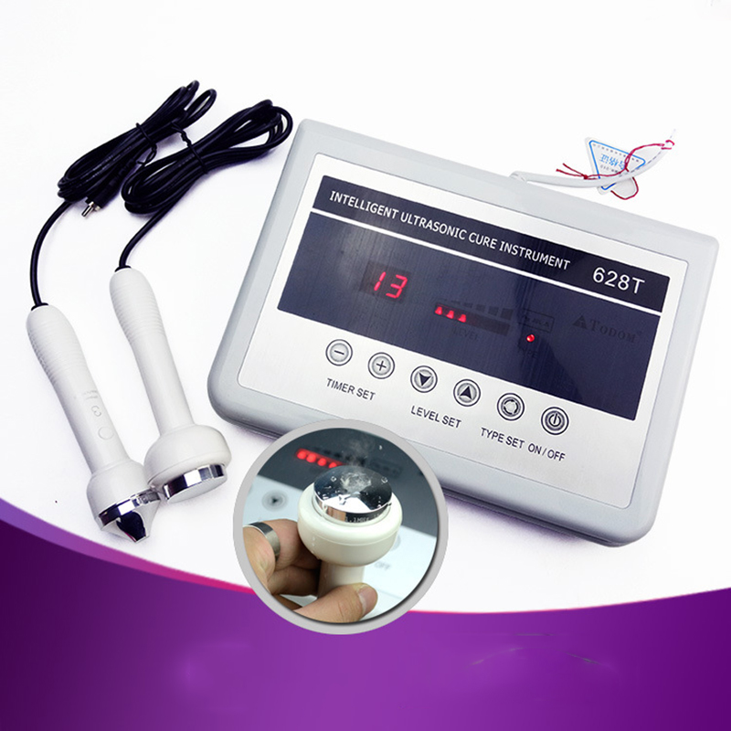 628T 2-in-1 Ultrasound Machine Ultrasonic Wrinkle Eye Bag Removal  Facial Skin Care Body Pain Relief Therapy Home Beauty Device anti acne pigment removal photon led light therapy facial beauty salon skin care treatment massager machine