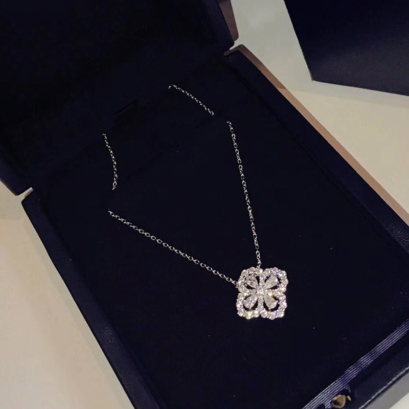 Classic Brand Pure 925 Sterling Silver Jewelry For Women Wedding Flower lover Necklace One Flower Luck Four Leaf lover Pendant юбка mia lover lc42147 16