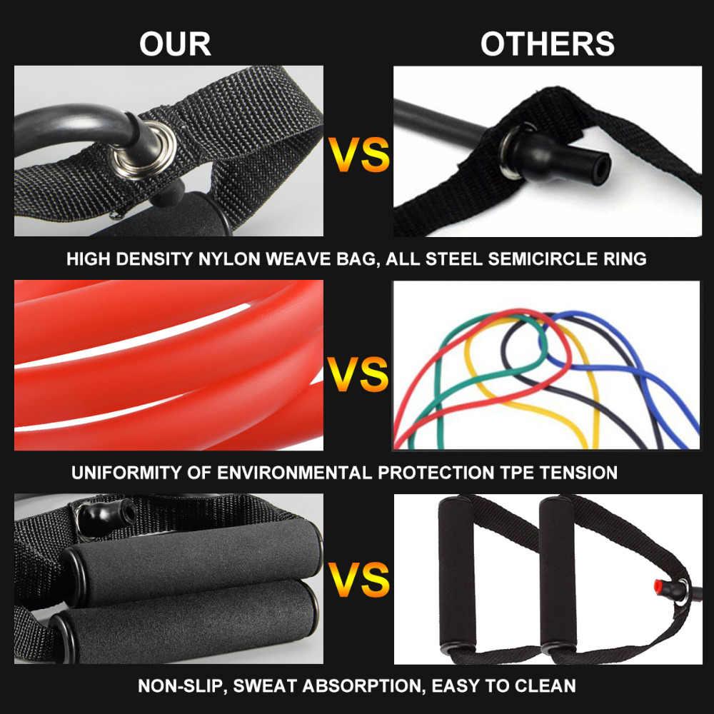 120cm joga ciągnąć liny elastyczne zespoły oporu Fitness Crossfit do treningów i ćwiczeń rury szkolenia praktycznego rozciągania na gumie Expander