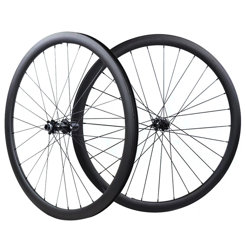 Road Disc Brake Wheelset 700C 38mm 50mm Tubular Tubeless NOVATEC 411 412 Cyclocross Bike Carbon Wheel Carbon Rim Bicycle Wheel 700c full carbon road bike wheel 50mm deep novatec powerway hub in 20 holes front bicycle wheel only 3k matte finish