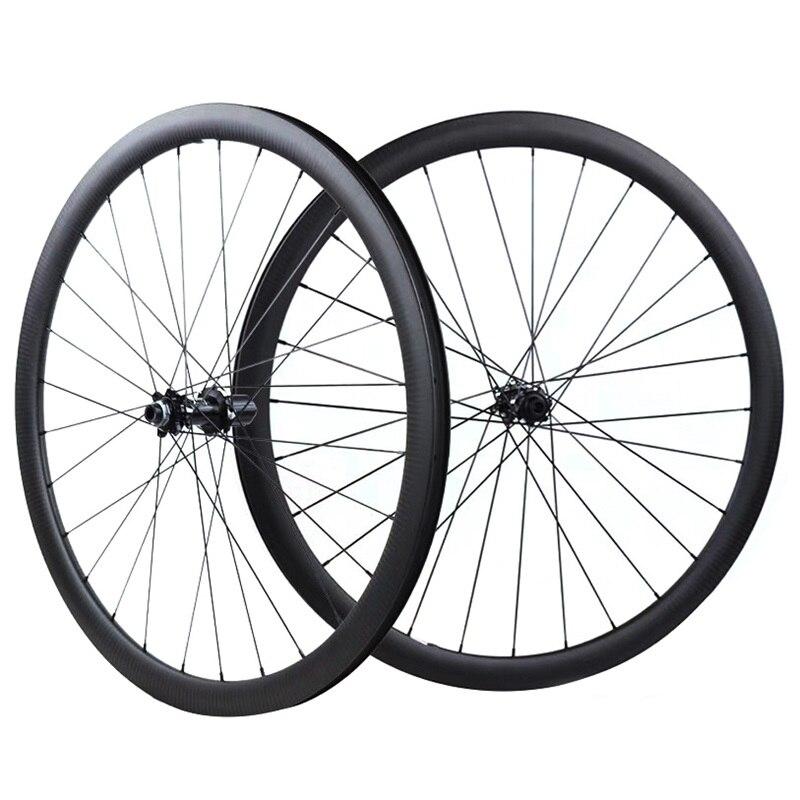 Roue de frein à disque de route 700C 38mm 50mm tubulaire Tubeless NOVATEC 411 412 Cyclocross vélo roue en carbone jante en carbone roue de vélo
