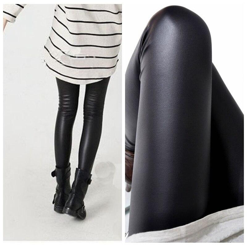 6e955fa094453 Black women leggings faux leather high quality slim leggings plus size High  elasticity sexy pants leggins free size SM9601-in Leggings from Women's  Clothing ...