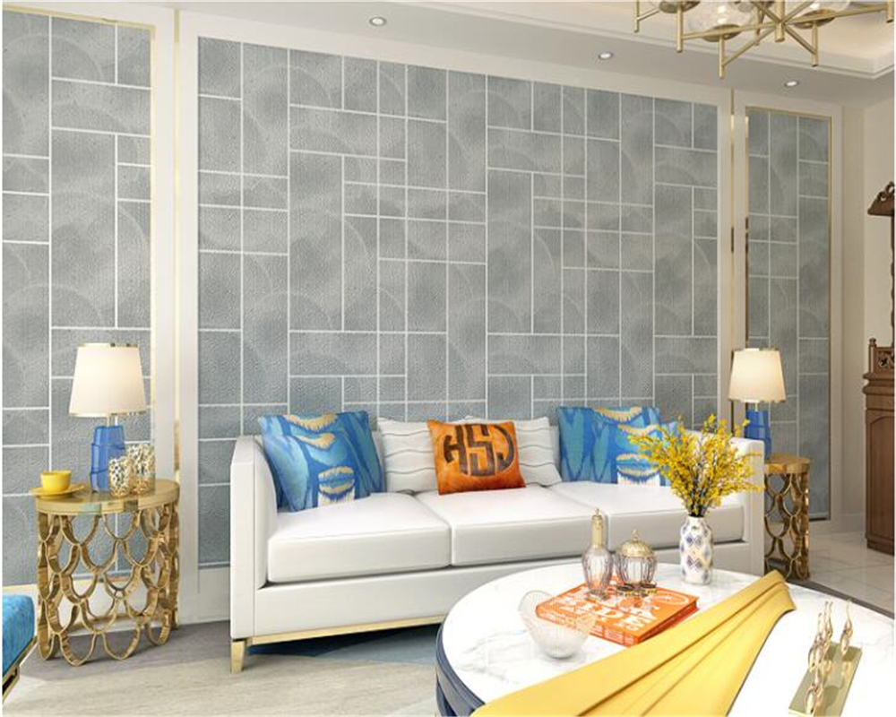 beibehang modern minimalist behang wall paper thick plaid film TV background bedroom living room nonwoven deerskin 3d wallpaper beibehang modern minimalist deerskin cashmere wallpaper 3d fashion thickened abstract geometric pattern nonwovens 3d wallpaper