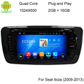 HD 1024X600 Android Автомобильный DVD Стерео Fit Seat Ibiza 2009 2010 2011 2012 2013 Авто Радио RDS GPS Навигация Встроенный wi-fi