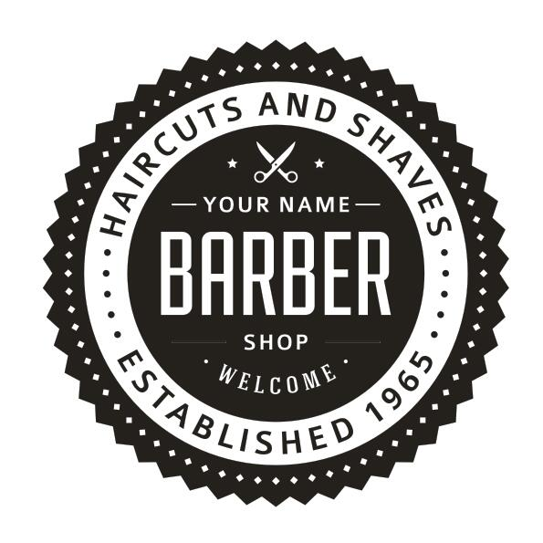Barber shop wall decal hair cut shaves sign logo personal text date mural art wall sticker hair salon glass window decoration in wall stickers from home