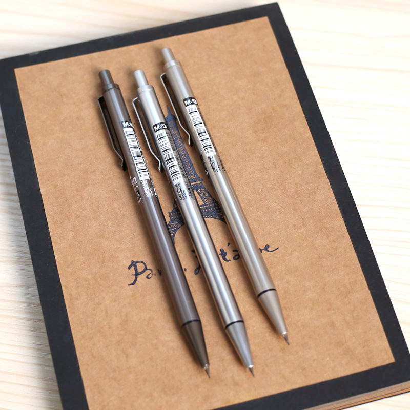 new brand 0 5 0 7 mm iron metal mechanical pencil for writing drawing school supplies free. Black Bedroom Furniture Sets. Home Design Ideas