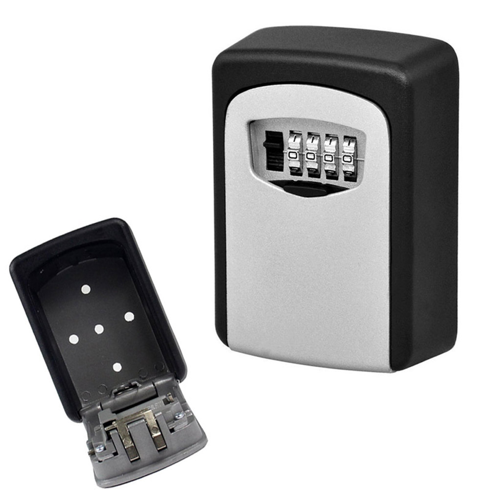 Key Storage Lock Box Wall Mount Holder 4 Digit Combination