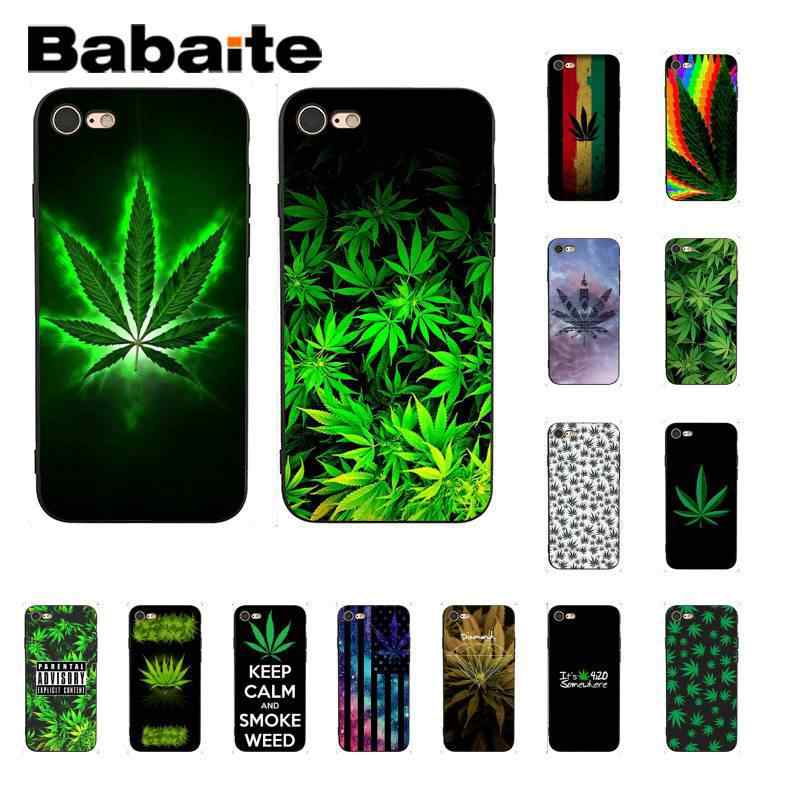 Чехол Babaite Weed Leaves Coque Shell для телефона iPhone 5 5Sx 6 7 7 plus 8 8 Plus X XS MAX XR 10
