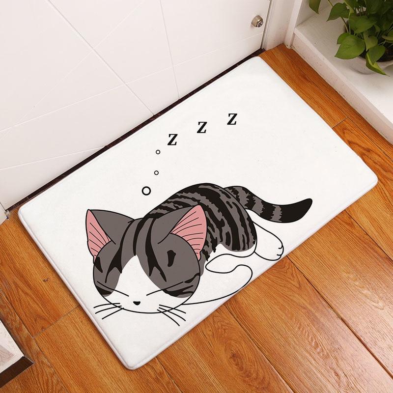 Мягкий коврик для ванной, милый домашний коврик с рисунком кота, коврики для ванной комнаты, коврики для кухни, гостиной, впитывающие Противоскользящие коврики - Цвет: 8