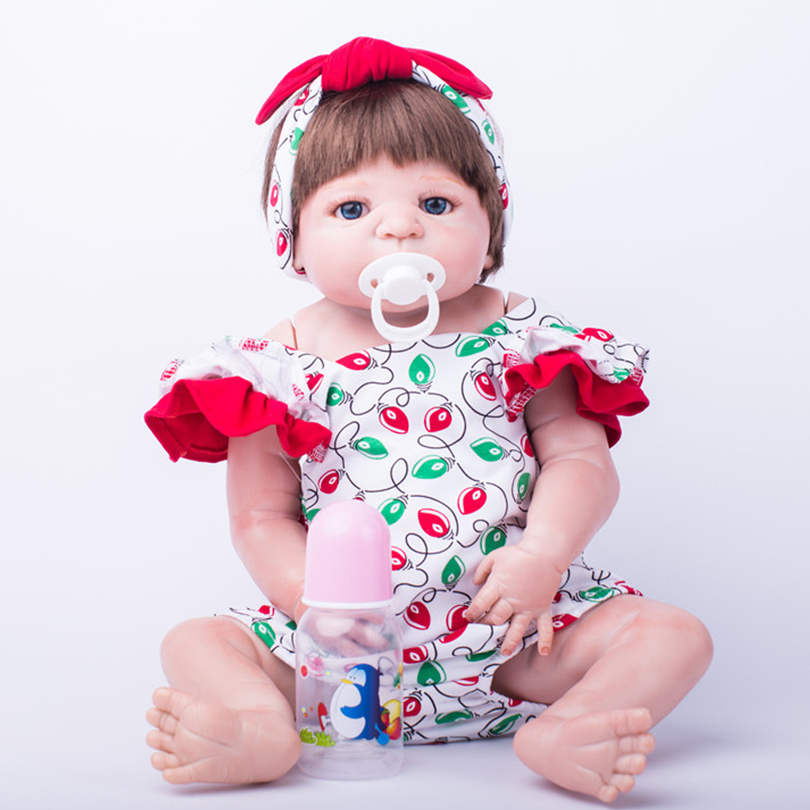 55cm Full Body Silicone Reborn Baby Dolls Toy Like Real Newborn Princess Babie Alive Victoria Doll Girl Brinquedos Bonecas55cm Full Body Silicone Reborn Baby Dolls Toy Like Real Newborn Princess Babie Alive Victoria Doll Girl Brinquedos Bonecas