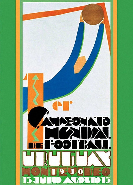 """Vintage""""Uruguay World Cup 1930"""" Football Poster Home Decoration Detailed Antique Poster Wall Chart Retro Paper Matte Kraft Paper"""
