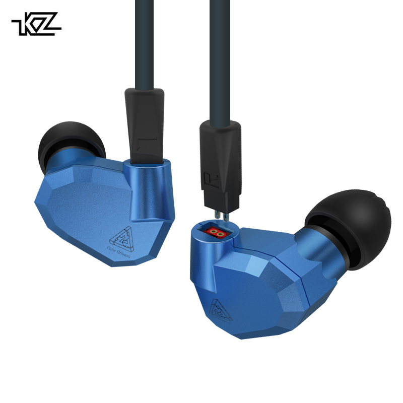 Original KZ ZS5 2DD+2BA Hybrid In Ear Earphone HIFI DJ Monito Running Sport KZ ZST KZ ZS6 Earphones Headset Earbud Two Colors