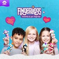 Authentieke Fingerlings Interactieve Baby Apen Speelgoed Smart Kleurrijke Vingers Llings Smart Inductie Speelgoed Kerstcadeau Speelgoed