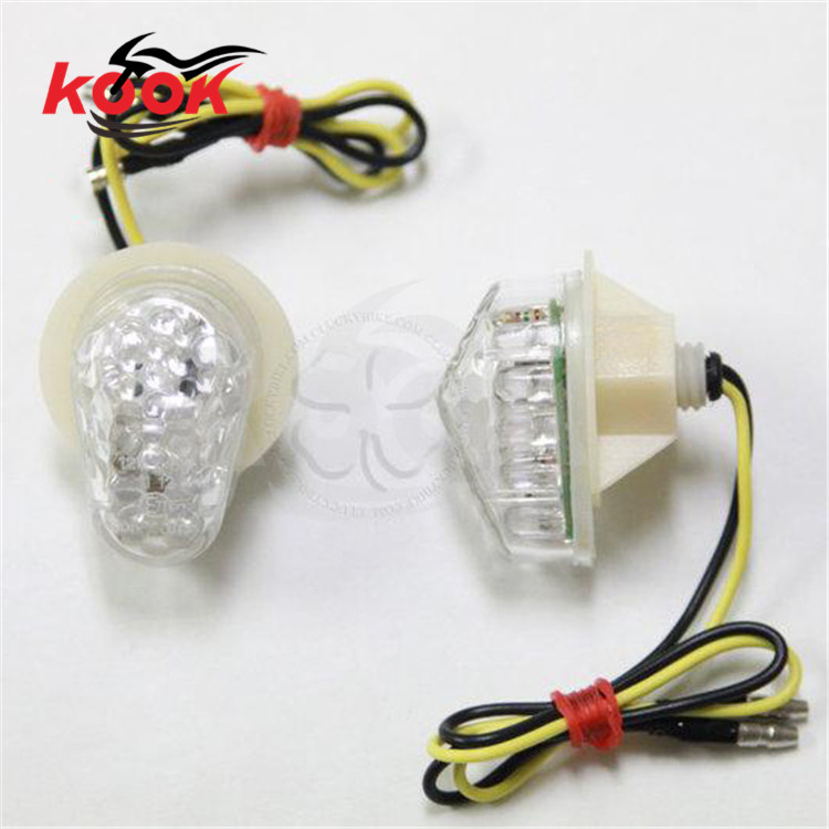 2016 new 2pcs Flush Mount LED Turn Signal Fog Light Lamp Indicator pro Motorcycle flashers for Suzuki yamaha LED universal white