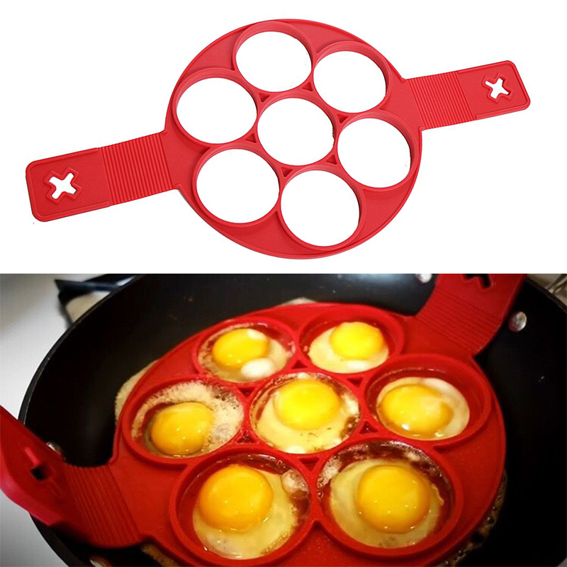 Pancake Maker Nonstick Cooking Tools Egg Ring Maker Pancakes Cheese Egg Cooker Tools Pan Flip Eggs Mold Kitchen Baking Accessory in Cake Molds from Home Garden