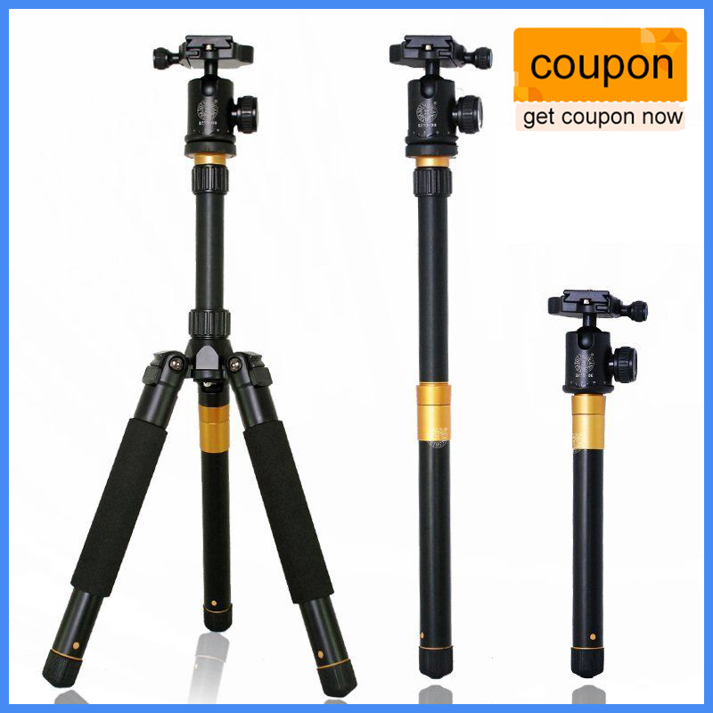 Upgrade Q999S Professional Photography Portable Aluminum Ball Head+Tripod To Monopod For Canon Nikon Sony DSLR Camera ashanks professional aluminum camera tripod mini portable monopod with ball head for dslr photography video studio load 10kg