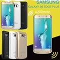 4200 mah nuevo banco de alimentación externa cargador de batería de reserva portable proteja funda para el samsung galaxy s6 s6edge s6edge plus