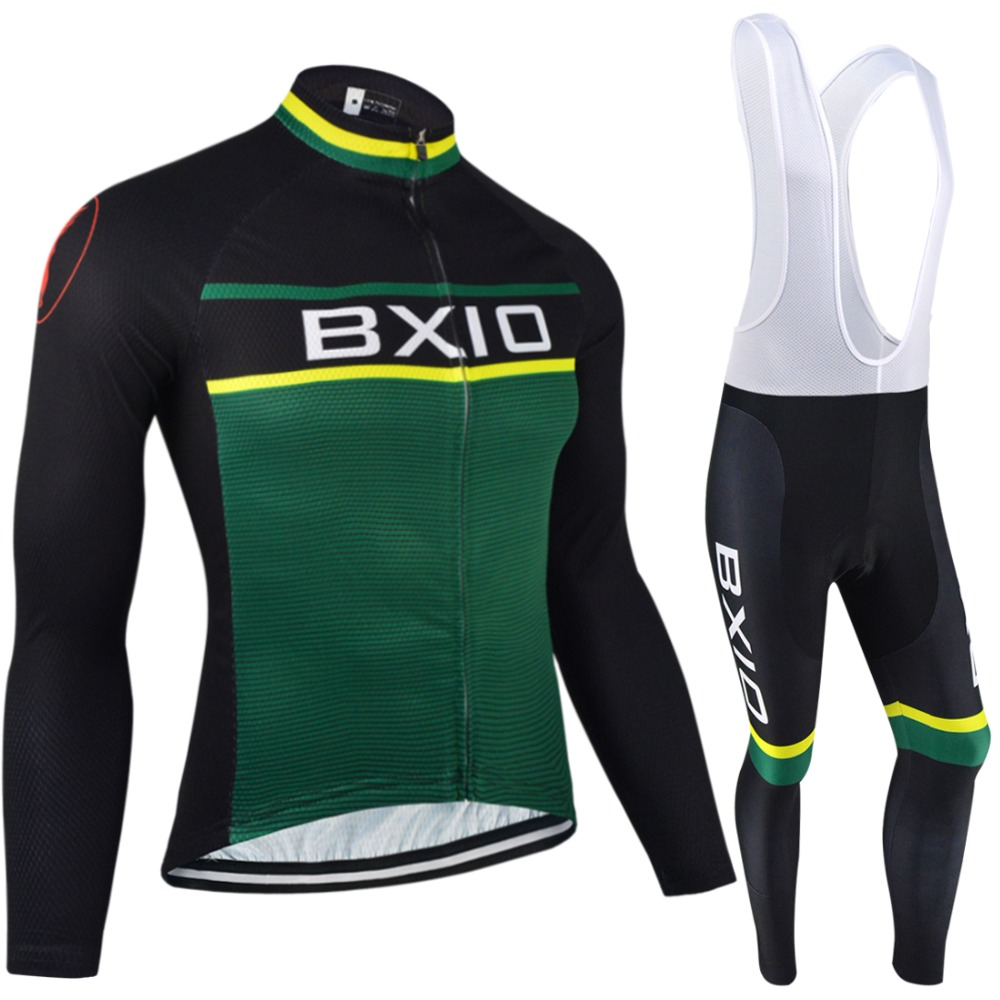 BXIO Winter Cycling Jersey Thermal Fleece Pro Team Bike Clothing Long Sleeves Bicycle Clothes Invierno Ropa Ciclismo Hombres 092 2017 new arrival bxio maillot ciclismo hombres cycling jersey mtb bike clothing long pro team autumn bicycle clothes bx 0109h095