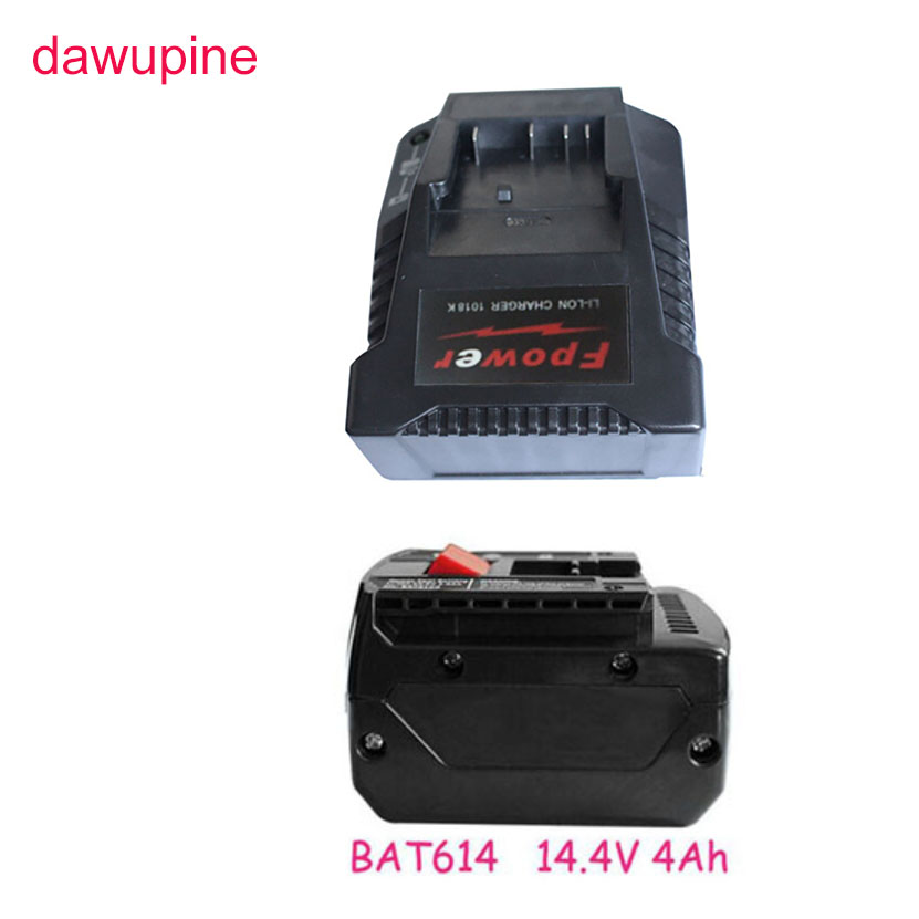 все цены на dawupine BAT614 14.4V 4Ah Li-ion Battery 1018K Charger For Bosch 18V 14.4V BAT609 BAT609G BAT618 BAT618G BAT614 2607336236