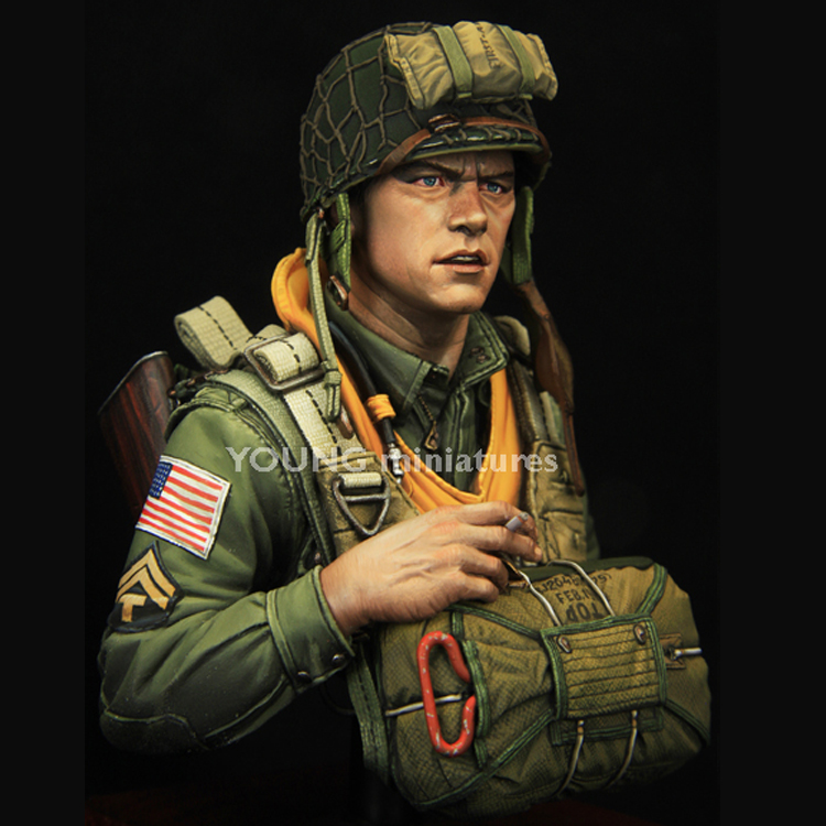 Resin Figure Bust Matter Division Airborne Military No-Colour 101st 1/10 Subject GK Wwii-Currahee