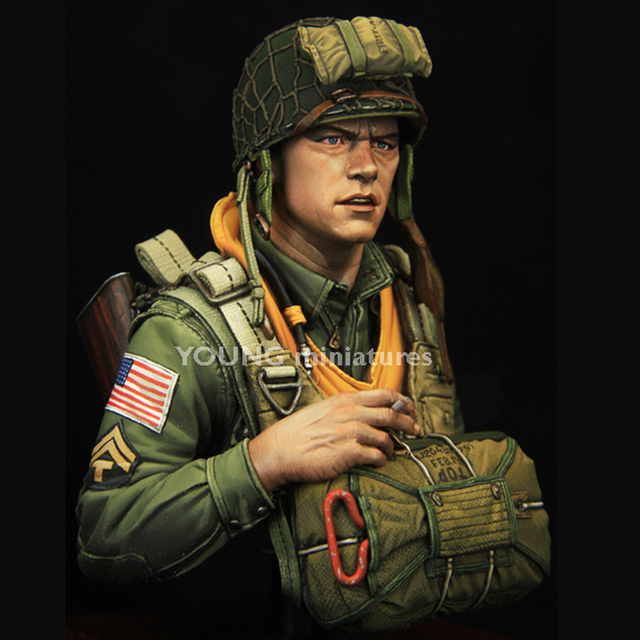 US $16 19 10% OFF Aliexpress com : Buy 1/10 101st Airborne Division WWII  CURRAHEE, Resin Figure Bust GK, Military subject matter, Uncoated No colour