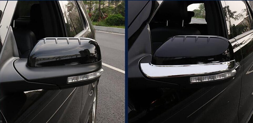 For Ford Explorer Sport 2016 2017 ABS Chrome Car-styling Mirror Rubbing Strip Rearview Mirror Decoration Frame Cover 2pcs