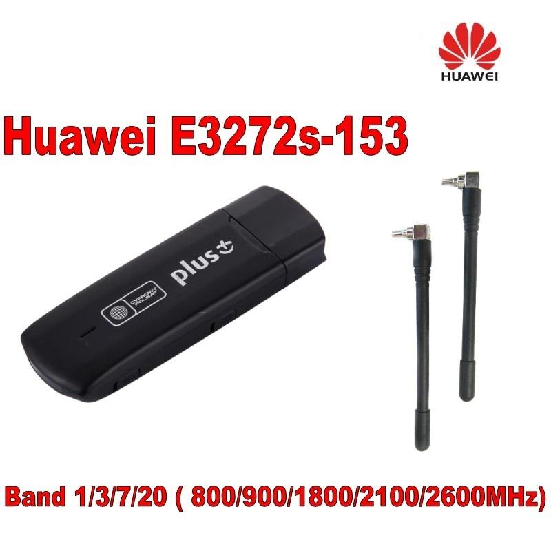 Odklenjena huawei e3272s-153 LTE USB Stick Fdd 800/900/1800/2100/2600 plus 2kom CRC9 antena