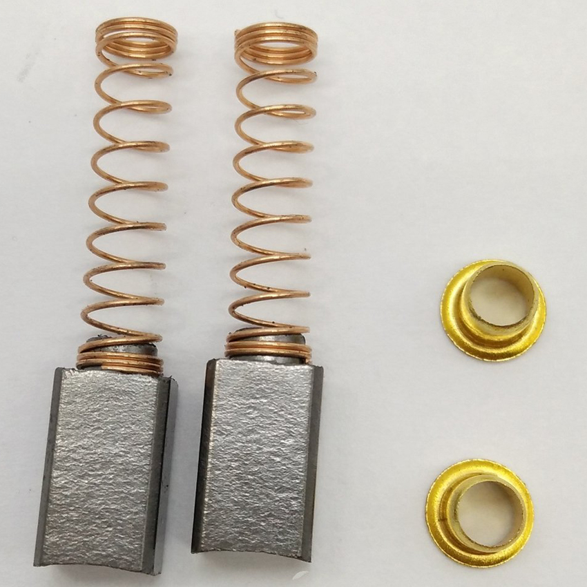 2x Motor Carbon Brushes With Spring For Singer 221 Featherweight Sewing Machine