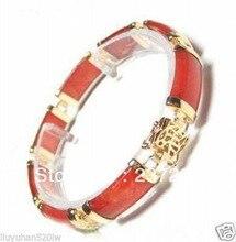 Women Gift word Love New arrived design natural Beautiful red gem bracelet 7.5inch Girl Woman MEN Quartz for women jewelry
