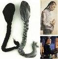Accesorios para el cabello de la dinastía qing dinastía qing peluca cosplay para los hombres negro coleta peluca antigua dinastía qing larga coleta peluca de pelo