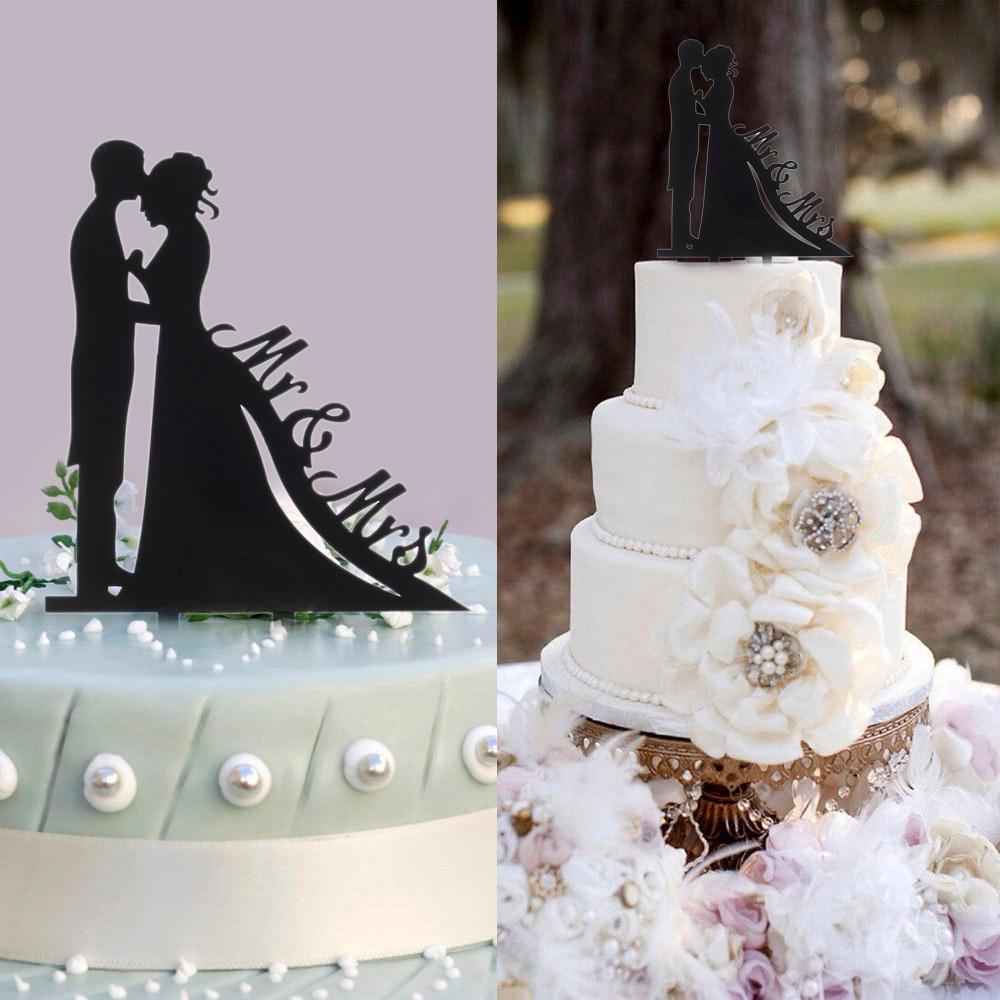 Classy Romantic Wedding Cake Topper High Quality Acrylic Bride ...