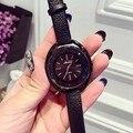 2016 оригинальный бренд моды смотреть женщин стразы кристалл кожаный ремешок дамы кварцевые часы час часы montre femme relojes