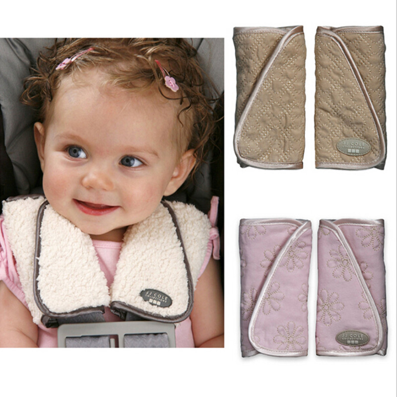 Baby Stroller Seat Belt Shoulder Pads Cover For Car Safety Autumn Winter Double Use Reversible Strap Covers 2pcs Pair In Strollers Accessories From