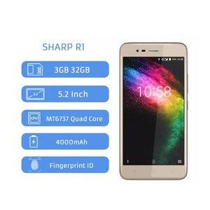Image 2 - Telefone móvel do núcleo do quadrilátero de r1 mt6737 afiado 5.2 Polegada 1280x720 p relação 16:9 smartphone 4000 mah 3 gb ram 32 gb rom android celular