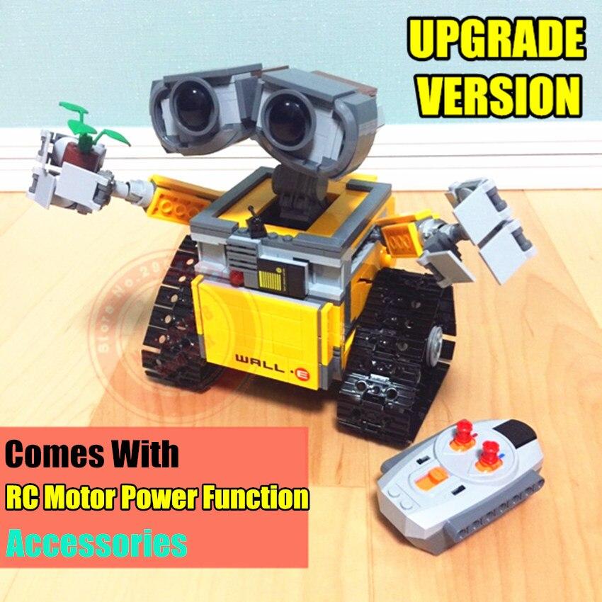 Nouveau IR RC piste puissance fonction mur E Robot fit mur E idée technique chiffres bloc de construction brique bricolage jouet 21303 cadeau enfant anniversaire