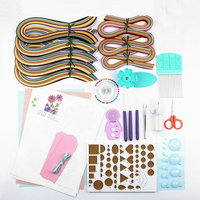 Quilling Paper Set Paper Craft Material Packag Color Paper Drawing Material Package Beginners Learning Tool