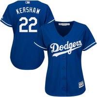 MLB Women S Los Angeles Dodgers Clayton Kershaw Majestic Royal Alternate Cool Base Player Jersey