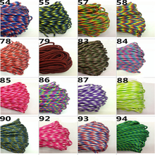 100 colors Paracord 550 10Meter Paracord Rope Type III 7