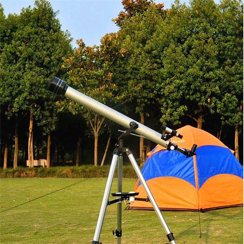 Profissional 675 Vezes Telescópio Astronômico Com Tripé Portátil e 60mm Objetiva Grande Ao Ar Livre Zoom Monocular