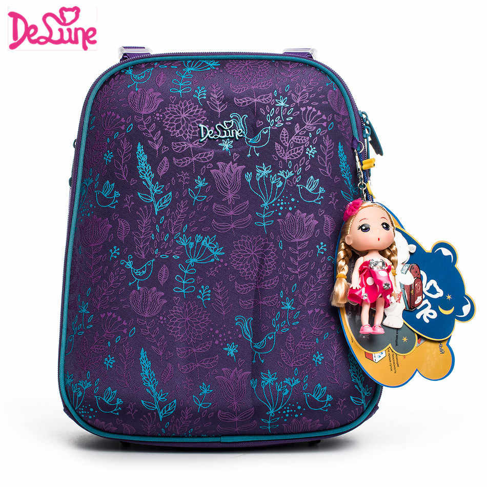 2018 Russia Famous Brand Delune 3D cartoon children school bags for girls  Orthopedic backpacks Primary school a9dffb899afa8