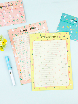 Creative Letter Paper Set Express Envelope Literature And Art Color Love Style Simple Cute Card