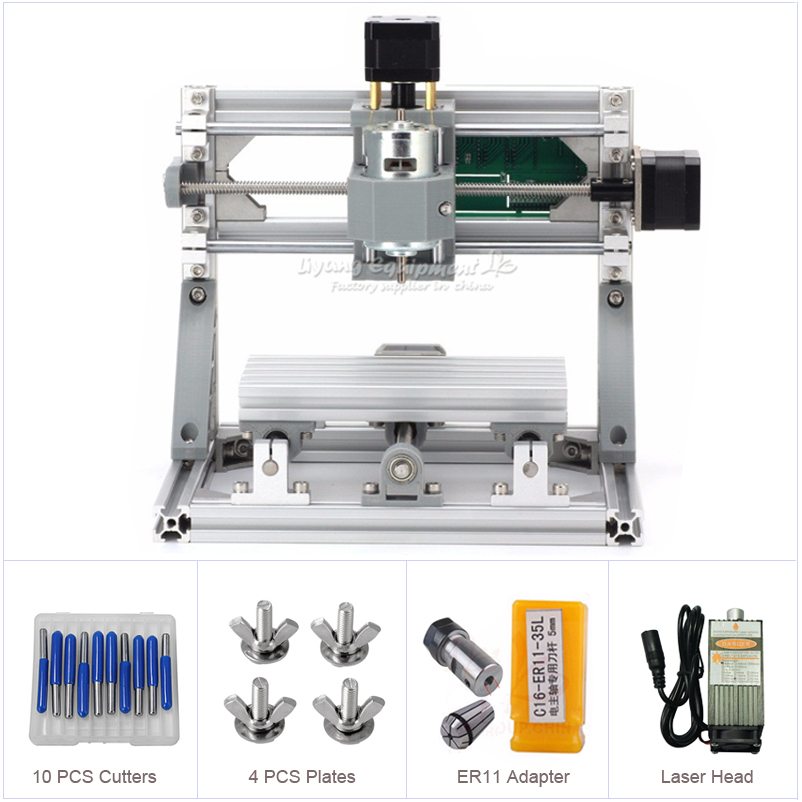 New Laser CNC 2 In 1 Mini CNC 1610 500mw Laser CNC Engraving Machine Wood Carving Machine Diy Mini Cnc Router With GRBL Control